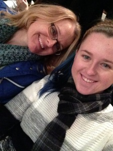 My mom and I waiting for the play to start!